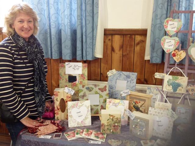 One of our stall holders and her fabric picture frames