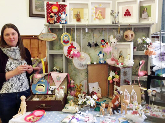 One of our stall holders and her zoo of sewn delights